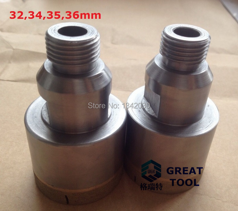 Free Shipping Diamond Drilling Bit for Glass, Available Diameter 32,34,35,36mm Length 75mm, Thread Standard Belgium type G1/2<br><br>Aliexpress