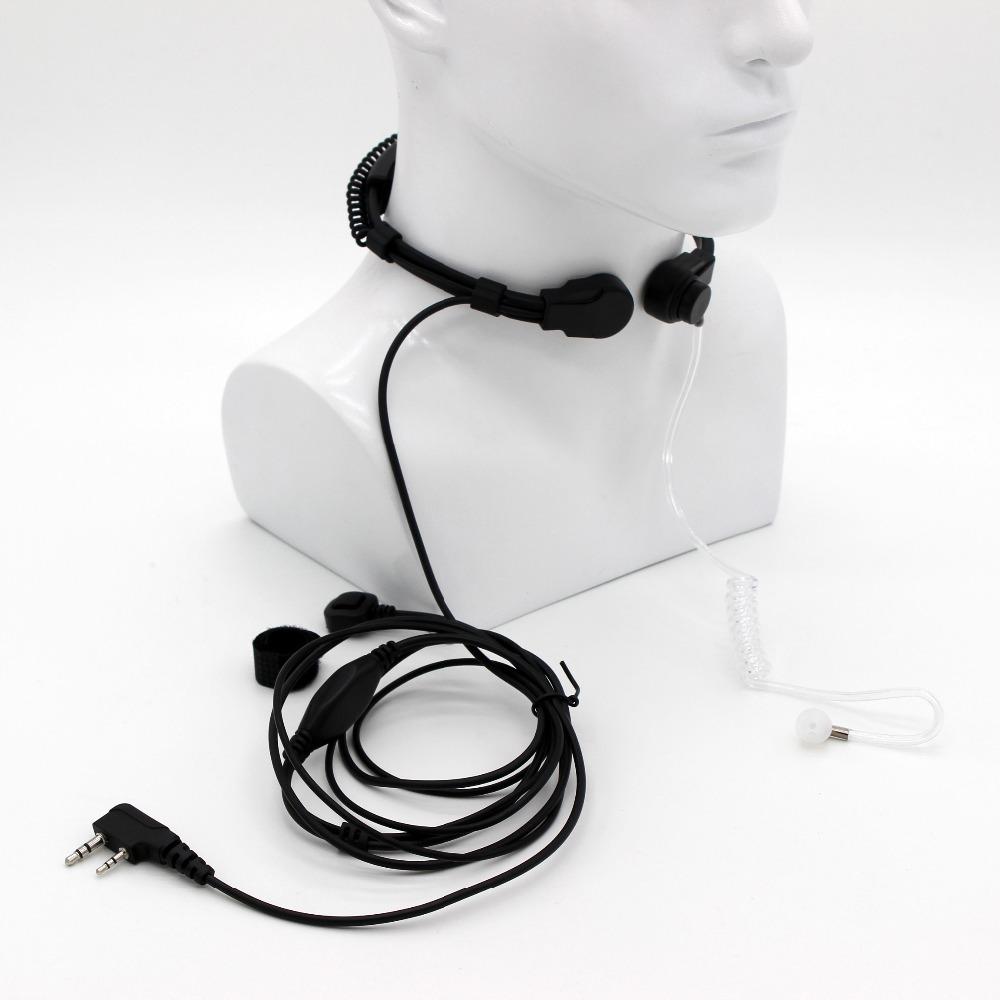 3PCS Extendable Throat Mic Microphone Two Way Radio Headset for Kenwood BaoFeng UV-5R UV-B5 GT-3 BF-F8+ UV-5RE Plus BF-888S TYT(China (Mainland))