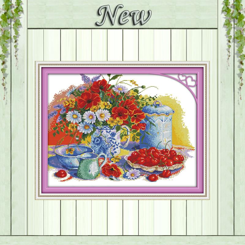 Вышивка наборы вишни и маки