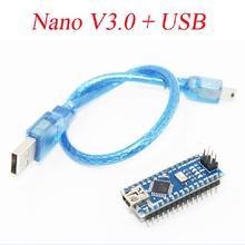 Buy 1PCS Nano 3.0 Controller Compatible Arduino Nano CH340 USB Driver Cable NANO V3.0 Free for $3.50 in AliExpress store