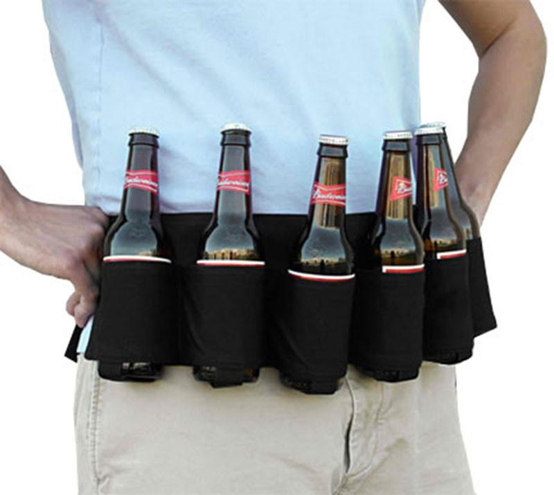 6 Pack Beer Holder, Portable Bottle Soda Can Holder Belt ...