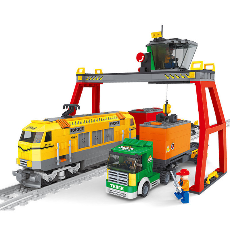 2016 New 792pcs Train Station Building Blocks Truck/train Transport games Compatible With LEGO Train Bricks Toys Birthday Gift<br><br>Aliexpress