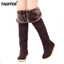 Buy women flat knee boots ladies riding fashion long snow boot warm winter brand botas footwear shoes AH087 size 34-43 for $24.46 in AliExpress store