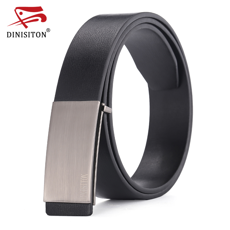 DINISITON 100% cowhide genuine leather belts for men Strap male Smooth buckle vintage jeans cowboy Casual designer brand belt(China (Mainland))