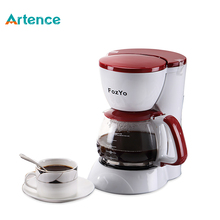 High-quality Automatic 5 Cups Espresso Electric Coffee Maker White Drip Coffee Machine With Water Window(China (Mainland))