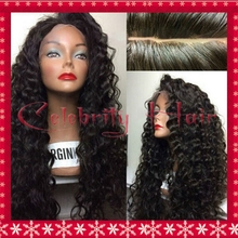 Fashion kinky curly middle part 3-4inch baby hair brown/black/red/purple/blonde 26inch 150%density cosplay wig Freeshipping(China (Mainland))