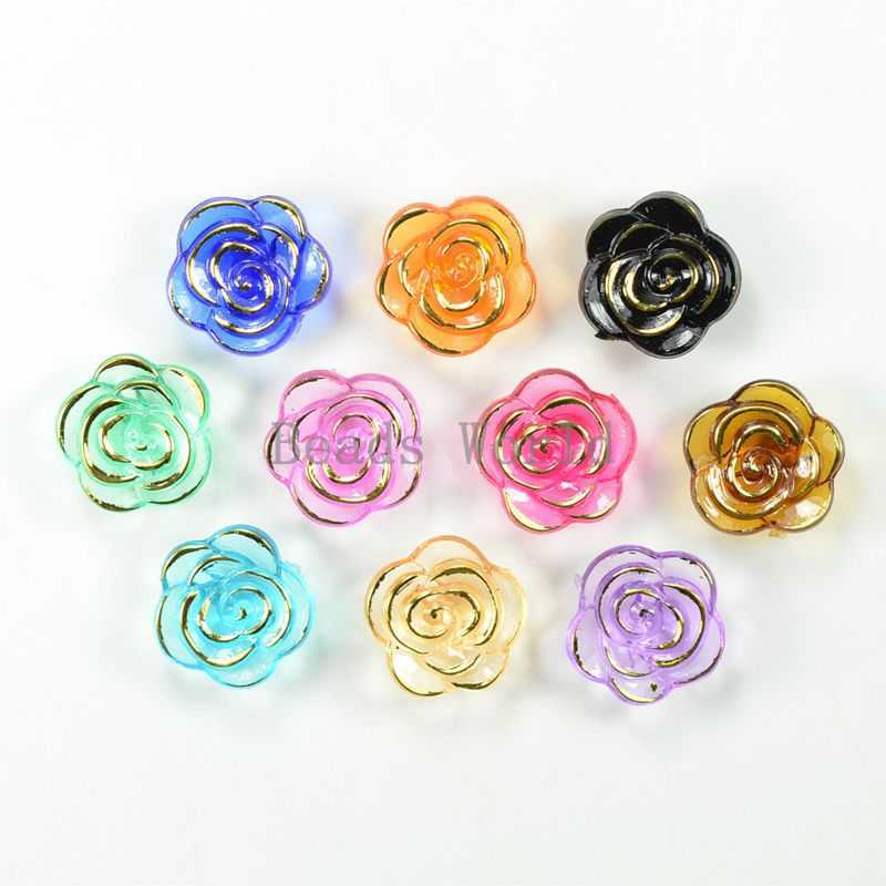 Buy 10random mixed flower acrylic shank buttons sewing for Buttons with shanks for jewelry