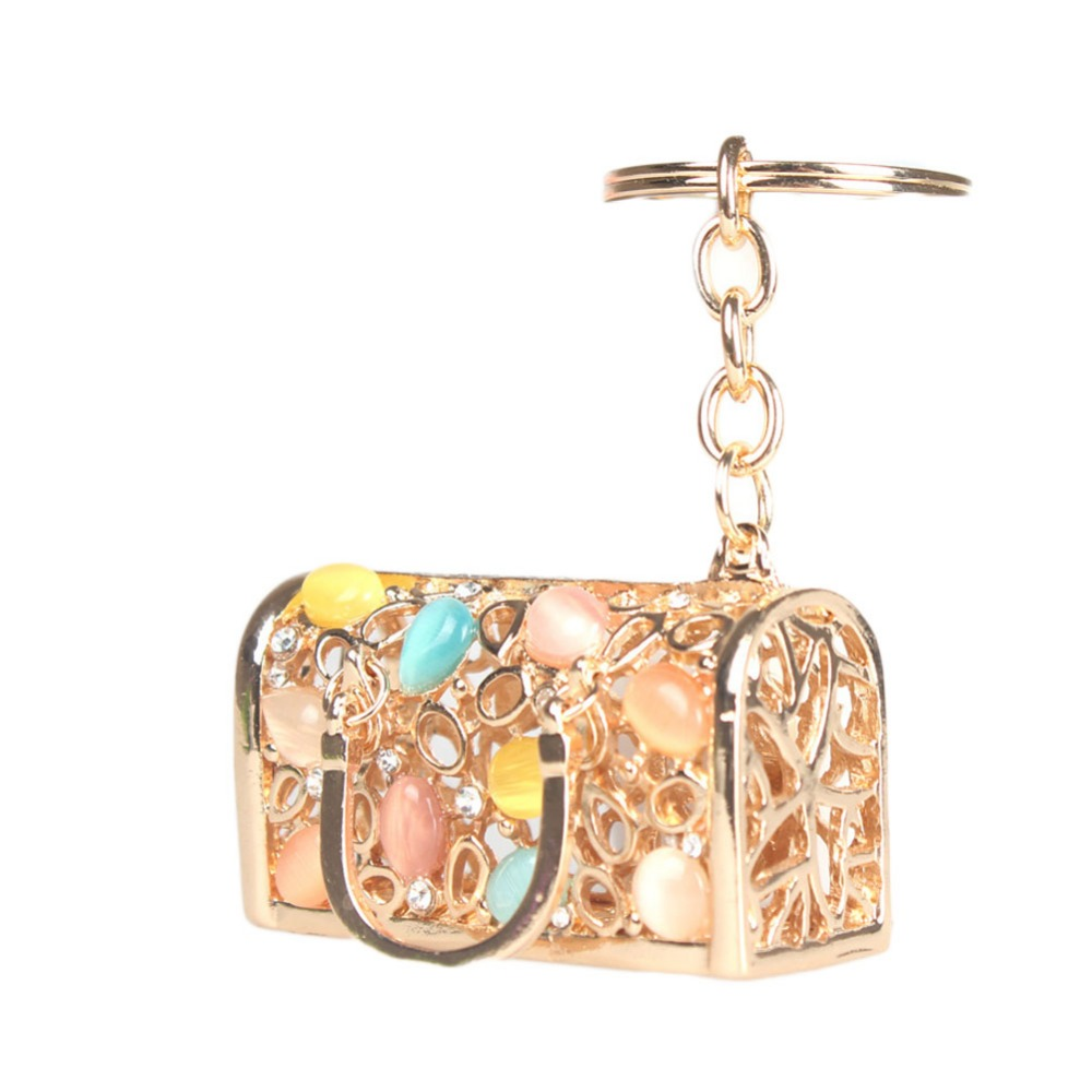 Drop Shipping New Fashion Accessories Handbags Wallets Shaped Full Rhinestones Key Ring(China (Mainland))