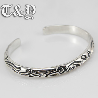 Здесь можно купить  T & y silver pure silver 925 bracelet decorative pattern bangle thai silver male bracelet T & y silver pure silver 925 bracelet decorative pattern bangle thai silver male bracelet Ювелирные изделия и часы