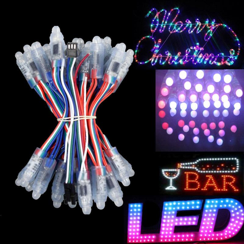 luces de navidad ws2811 rgb led string christmas lights led pixel. Black Bedroom Furniture Sets. Home Design Ideas