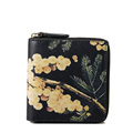 Fashion Zipper Wallet Women Retro Simple Print Small Purse Ladies Designer Card Case Vintage High Quality