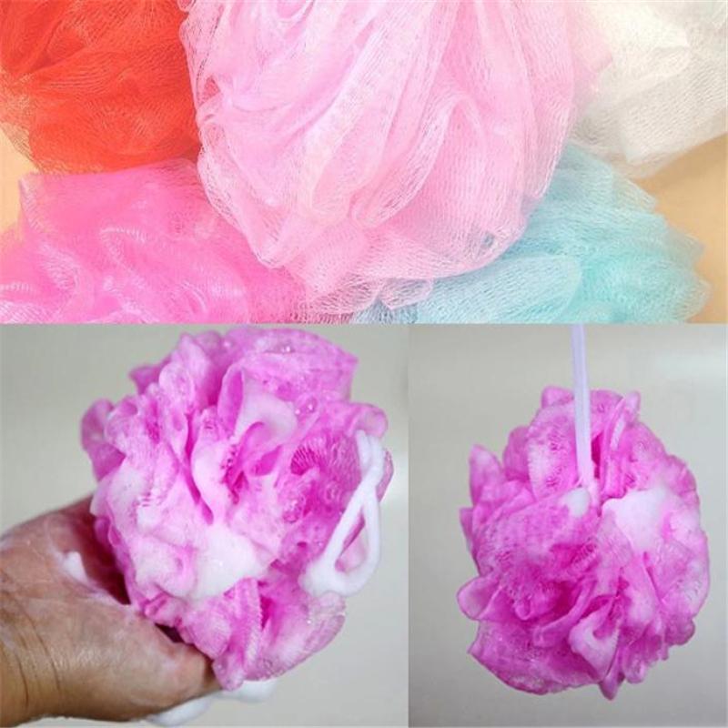 Thicker heavier Beautiful package bath ball bath companion showers /bath flower / sponge mesh bath ball site(China (Mainland))