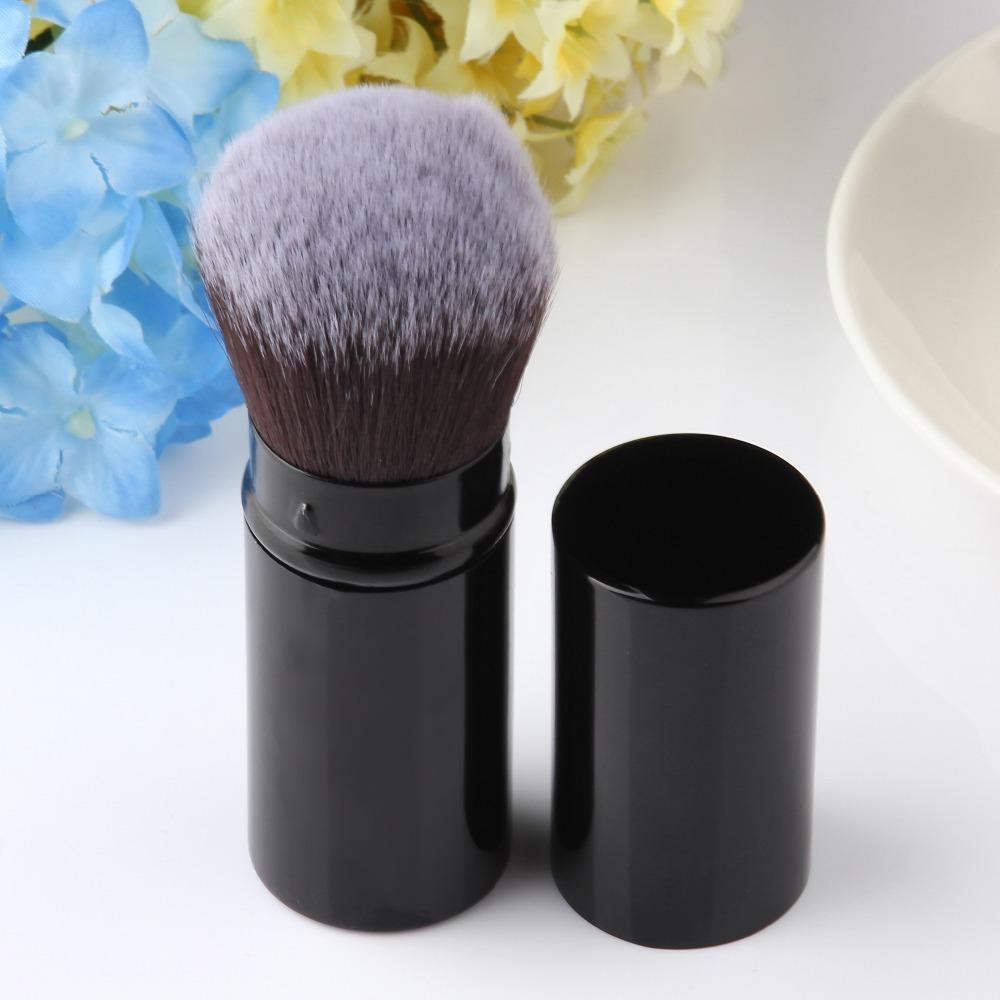 50pcs/lot,2015 Hot Fashion Retractable Makeup Blush Brush Powder Cosmetic Adjustable,Face Power Brush Kabuki Brush ,TOP Quality(China (Mainland))