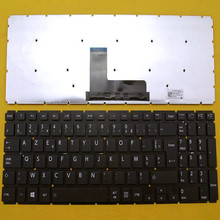 FR French Laptop Replacement Keyboard TOSHIBA L50-B BLACK Without FRAME Win8 - CIES Trading Co.,Ltd. store