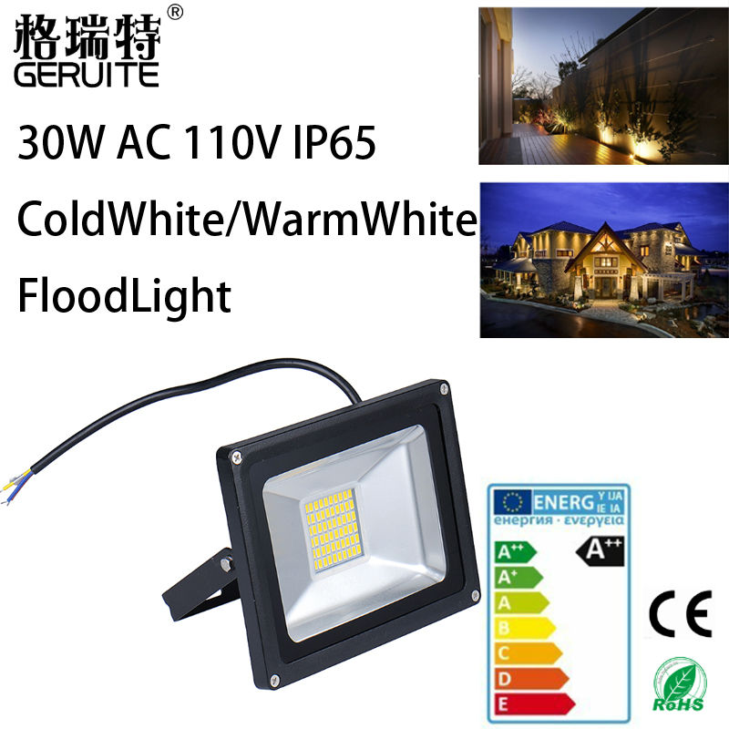 5pcs Led Flood light outdoor lights 30W AC 110V 1800LM 60LED SMD 5730 IP65 Floodlights For street Square Highway Wall billboard(China (Mainland))