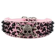 """Large Dog Collars Spiked Studded Leather Dog Pet Collar Neck For 15-24""""(China (Mainland))"""