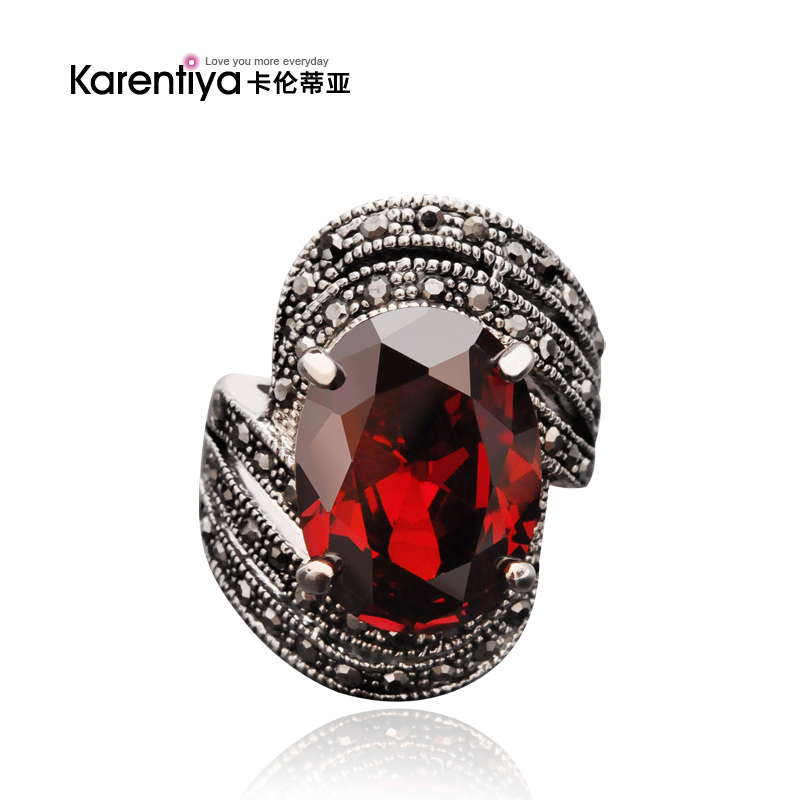 Hot sale Fashion accessories sexy female vintage crystal ring Heartbeat twilight personality punk lovers finger ring(China (Mainland))