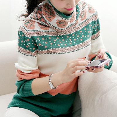 Новая мода милые женщины осень зима свитер женские трикотажные с длинным рукавом ...