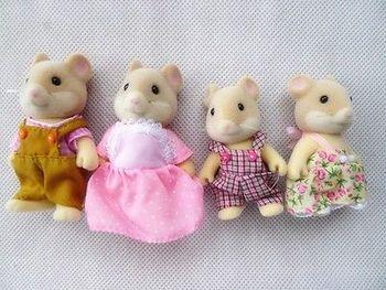 Sylvanian Families Mouse Family 4pcs Parents & Kids Set New without Box