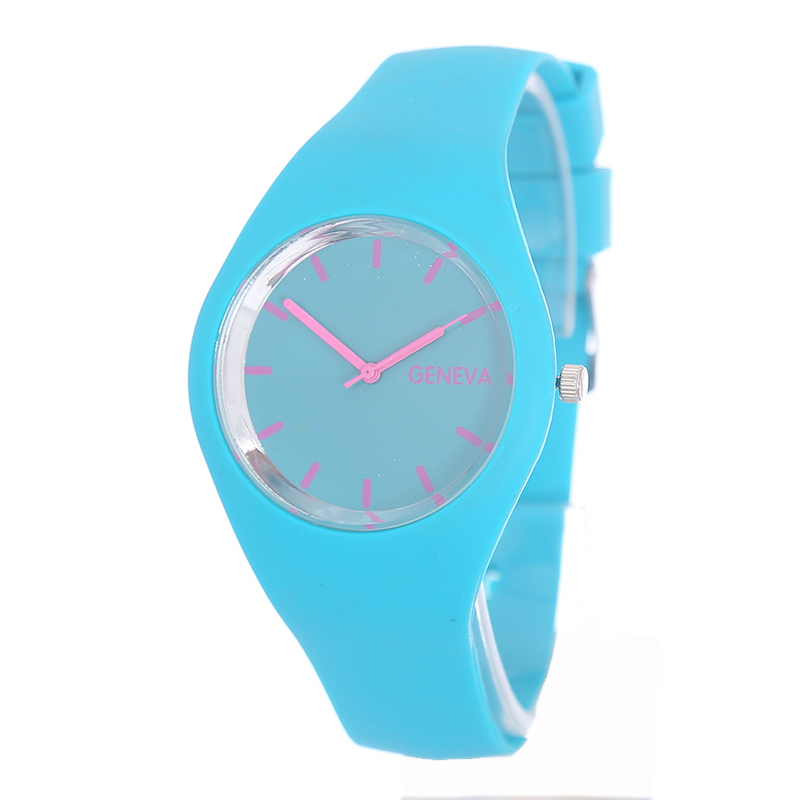 2015 New Solid Color Watch Women Casual&amp;Fashion Relogio Feminino Quartz Watches Silicone Colorful Rainbow Wristwatches<br><br>Aliexpress