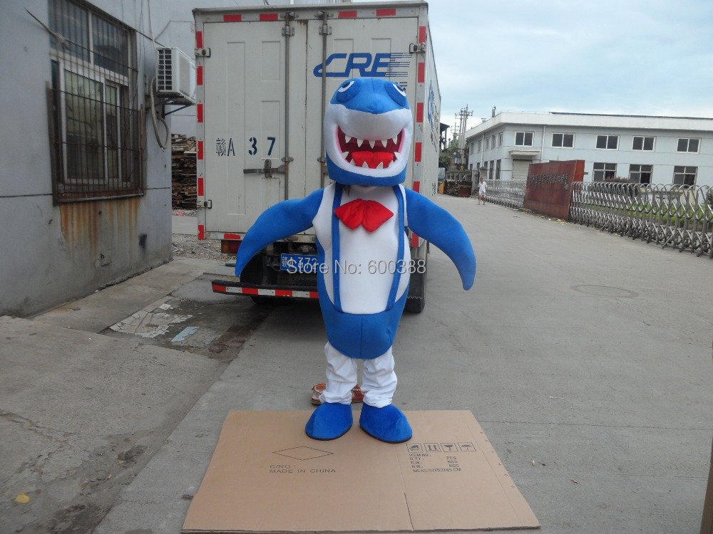 The Blue Shark Mascot Costume Halloween Fursuit Christmas Adult Size Fancy Dress Party Outfit Free ShippingОдежда и ак�е��уары<br><br><br>Aliexpress