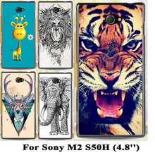 Buy Soft TPU Hard plastic Cartoon Cover Sony Xperia M2 S50H D2303 D2305 D2306 dual D2302 4.8 inch Cases Phone Back Cover Shell for $1.46 in AliExpress store