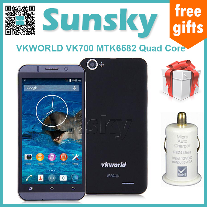 VKWORLD VK700 5.5inch IPS HD MTK6582 Quad Core 1.3GHz Android 4.4 Smartphone 1GB RAM 8GB ROM 3G GPS Miracast(China (Mainland))