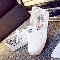 New Womens Floral Flats Summer 2016 Breathable Platform Canvas Shoes Women Espadrilles Thick Sole Loafers Woman