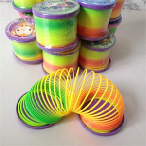 Delicate Kids Magic Plastic Slinky Rainbow Spring Toy Colorful New Children Funny Classic Educational Toy Christmas Gift 1PC(China (Mainland))