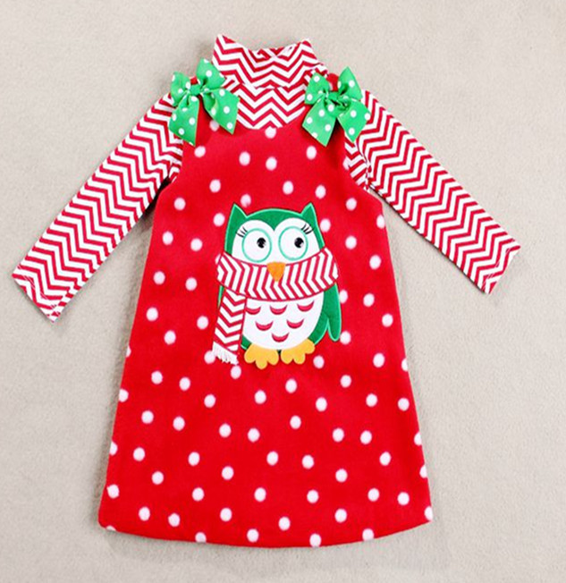 2T-6T girls christmas outfits Cartoon children clothing set 2 pcs suit girl's tops shirts + thick dress whole suits(China (Mainland))