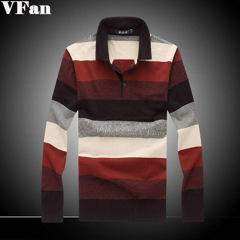 2015 New Brand Man Winter Sweater Casual Men's Stripe Pullovers Turn-down Collar Long Sleeves Sweaters Plus Size 6XL Z1449(China (Mainland))