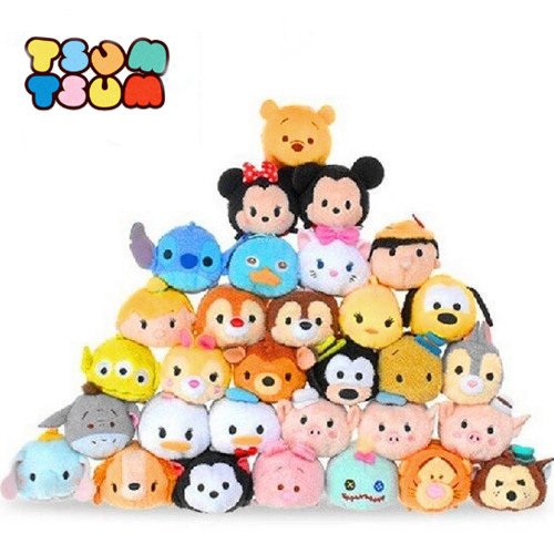 Tsum Tsum Plush toy Mickey doll Duck toys Cute elf doll Screen Cleaner for iPhone 3.5'' Plush toy juguetes(China (Mainland))