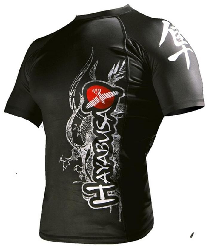 High quality cheap hayabusa rashguard mma fight vale tudo kick boxing muay thai brazilian jiu jitsu