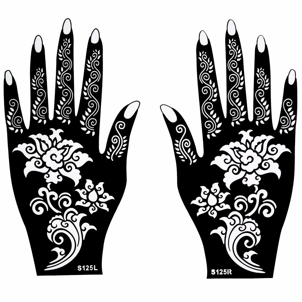 Wholesale Hot Henna Tattoo Stencil Beautiful Flower Pattern Design ...