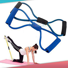 Resistance Training Bands Rope Tube Workout Exercise for Yoga 8 Type Fashion Body Fitness 1FOL