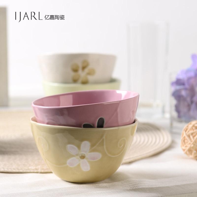 Ijarl Ka billion high-grade ceramic tableware bowl bowl bowl of Japanese Korean Steamed Rice single loaded Yayun<br><br>Aliexpress
