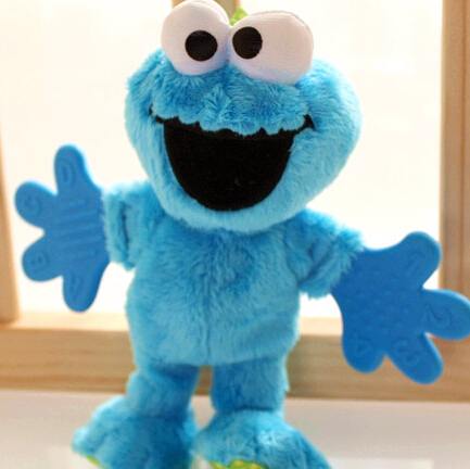 Sesame street plush toy make sound classical blue blame 20cm(7.87'') children's gift toy for child baby calm toy(China (Mainland))