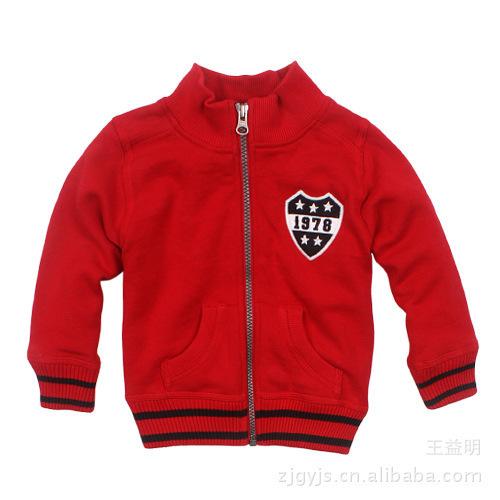 carter's original single boy jacket Carter lint stand-collar jacket YKK zipper sweater sweaters children