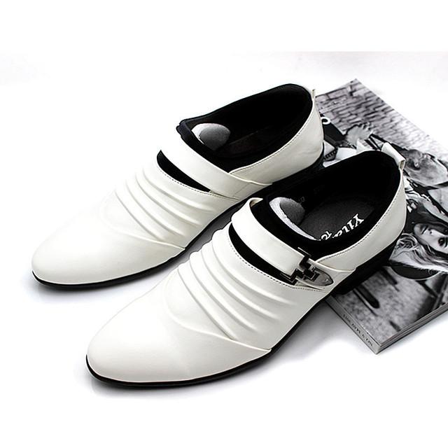 Мужская Оксфорды мужская Бизнес Обувь Платье Твердые Мужские Белые Кожаные Ботинки ...
