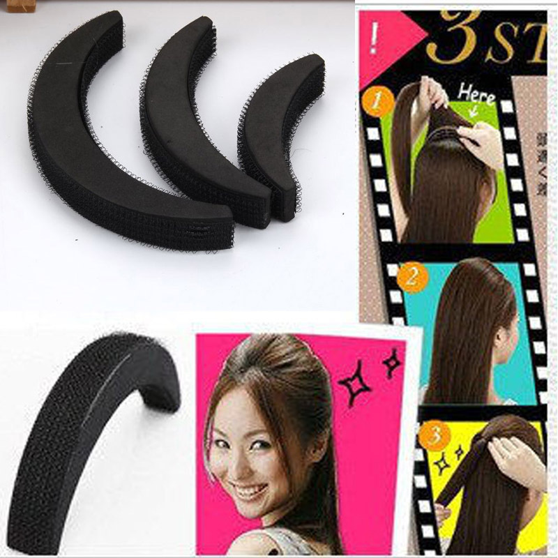 3pcs/pack Volume Hair Base for Girls Beauty Salons Fashion Women Sponge Increased Pad Hair Styling Tools Acessorios para Cabelo(China (Mainland))