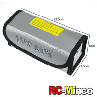 RC LiPo Battery Safety Large Bag Safe Guard Charge Sack Explosion-proof 18.5 * 7.5 * 6 cm Silver