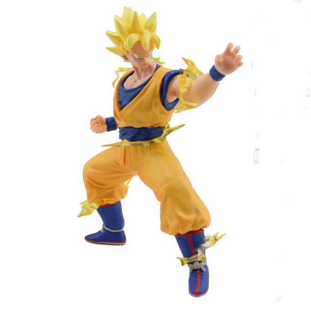 Classic Anime Dragonball figurines Dragon ball Z Goku Super Saiyan Action Figure Collectible Children Toy PVC 17cm<br><br>Aliexpress
