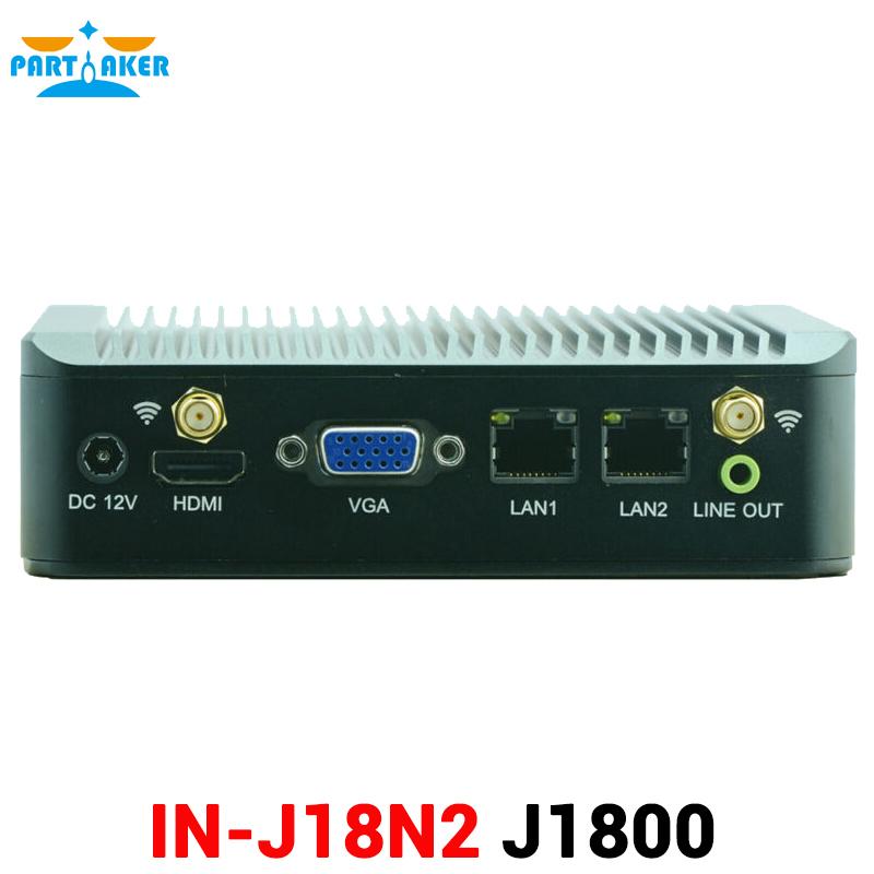 Fanless Intel Celeron J1800 Linux Mini PC with 4G RAM 300M WIFI(China (Mainland))