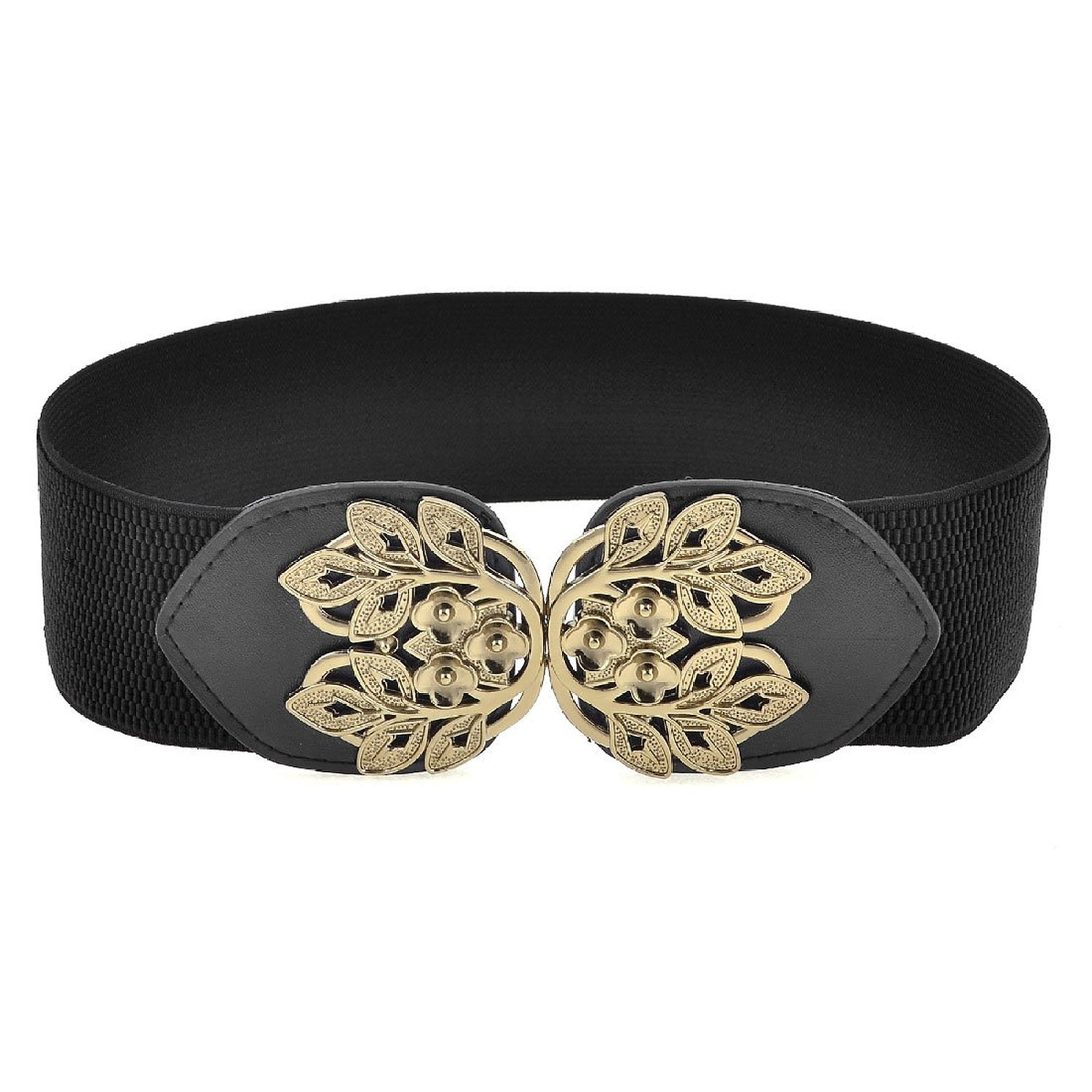 shopping time!Elastic Fabric Band Plum Blossom Design Cinch Belt for Ladies(China (Mainland))