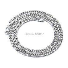 Men's 925 Sterling Silver jewelry-Fashion width 6.1mm thickness 2.2mm chain/chokers necklace Festival gifts Clothing accessories(China (Mainland))