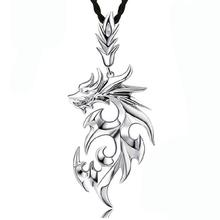 53*23mm Cool Fire Dragon Men Pendants,Floating Locket Charms Titanium Men Pendant Jewelry(With Leather Strap)(China (Mainland))