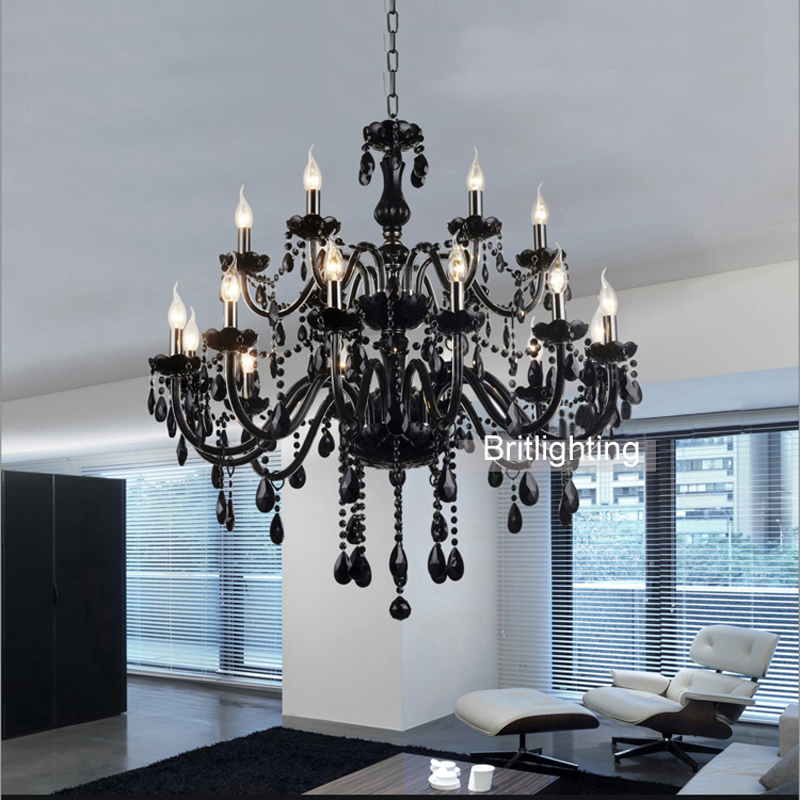 bedroom living room modern black crystal chandelier in chandeliers