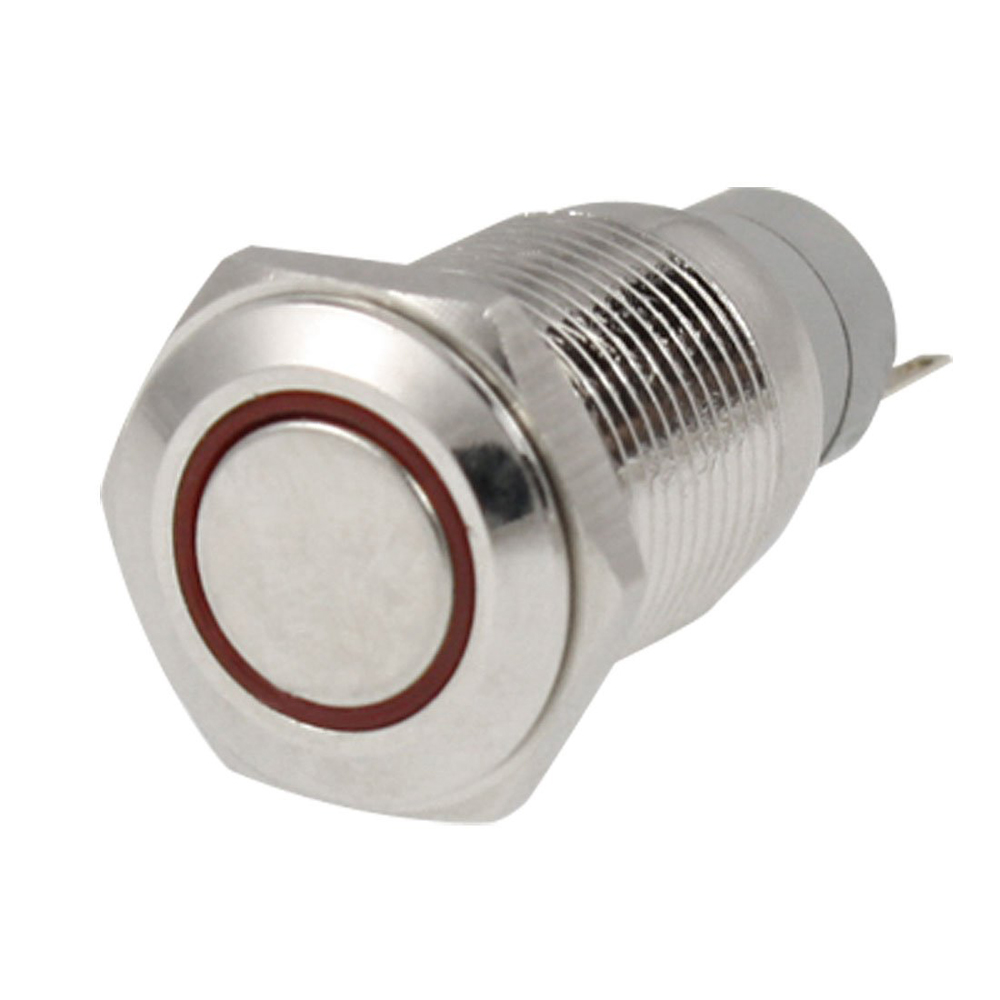 New Gift Angel Eye RED Led Light 16mm 12V Metal Momentary Push Button Switch(China (Mainland))