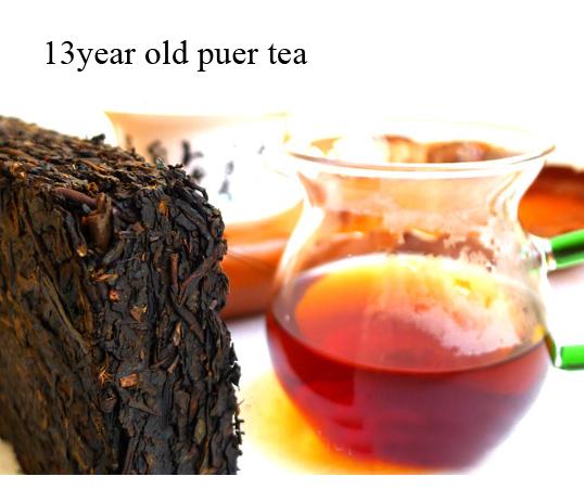 13year Classic puer tea 250g China Yunnan Pu 'er Ripe tea Tree Materials Pu erh lose weight food Christmas gift Jerry tea(China (Mainland))