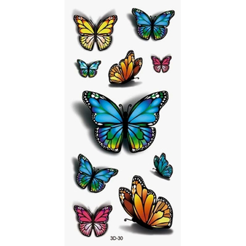 2Pcs Sexy Waist Shoulder Water Transfer Tattoo Decal Waterproof Temporary Tattoo Sticker Colorful Fake Tattoo Stickers For Girl(China (Mainland))